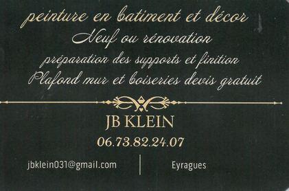 JB KLEIN, peinture en bâtiment et décor, Eyragues